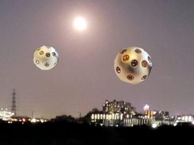 鴨池橋 東の夜空に浮かぶ 謎の球体? カムロ disco1,2