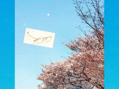 アイヴァン Balure。 白い月、青い空、そして桜。 今日はららぽーと横浜店の応援なのです