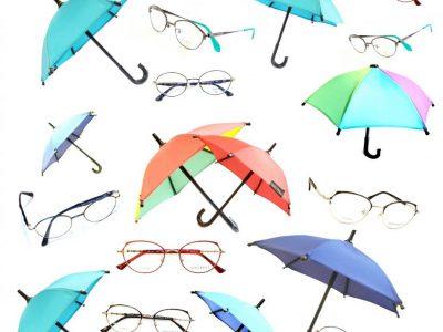 傘とメガネ